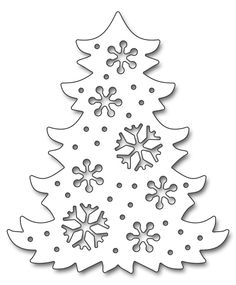 Add some snowy design to your Christmas cards, pages and other papercrafting projects with the Snowflake Tree Creative Die by Penny Black. Christmas Stencils, Christmas Paper Crafts, Handmade Christmas Decorations, Christmas Templates, Christmas Art, Christmas Ornaments, Black Christmas, Christmas Holidays, Christmas Tree Cut Out