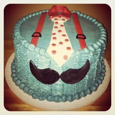 Little Man Mustache cake — Birthday Cake Photos adorable ! Little Man Cakes, Little Man Party, Little Man Birthday, Birthday Fun, First Birthday Parties, First Birthdays, Birthday Ideas, Cake Birthday, Cute Baby Shower Ideas