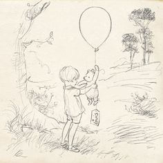 Disney has released three Winnie-the-Pooh drawings celebrating the birth of Prince Louis as drawn by principal artist Kim Raymond . The first sketch shows Winnie the Pooh with Christopher Robin Christopher Robin, Robin Drawing, Baby Drawing, Winnie The Pooh Friends, Disney Winnie The Pooh, Winnie The Pooh Classic, Drawing Sketches, Pencil Drawings, Contour Drawings