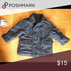 Toddler boys peacoat BabyGap toddler boys thick lined peacoat size 18-24  months almost brand eb5958abc47