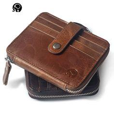 Ladies Purse Pocket Zipper Card Holder Wallet Leather Credit Card Holder Wallets Men Women Visiting Cards Cover #Affiliate