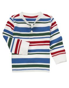 Great henley design in soft jersey stripes. 204р