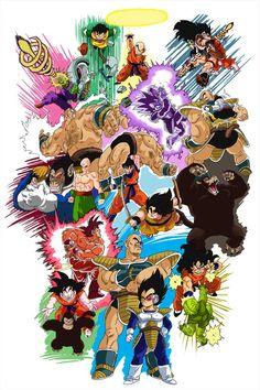 Dragonball Z Saiyan Saga Mega Anime, Anime Echii, Anime Art, Dragon Ball Z, Hero Crafts, Manga Dragon, Z Arts, Fan Art, Animes Wallpapers