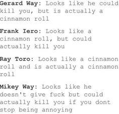 mcr and cinnamon rolls