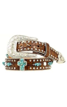 Nocona® Ladies Turquoise Stone Western Belt -- wham, bam, thankya ma'am....just bought this at the state fair! LOVE! <3
