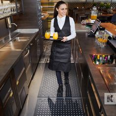 The perfect accessory for the busy bar and restaurant, Kleen-Thru Plus has many benefits including wet area drainage holes, hygienic anti-microbial properties, anti-fatigue, anti-slip and more… Ada Guidelines, Nitrile Rubber, Professional Kitchen, Bar Areas, Kitchen Mat, Professional Services, Wet Rooms, Beautiful Space
