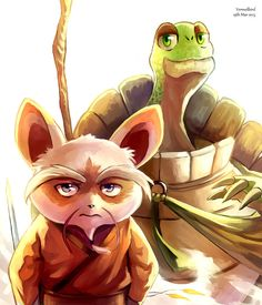 Shifu and Master Oogway by Vermeilbird.deviantart.com on @DeviantArt