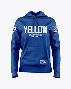 Women's Hoodie Mockup - Front View in Apparel Mockups on Yellow Images Object Mockups Equipement Football, Hooded Sweatshirts, Hoodies, Team T Shirts, Box Mockup, Mockup Templates, Shirt Mockup, Casual Outfits, Beach Outfits