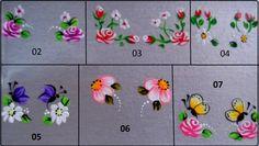 adesivos para unhas vários modelos One Stroke Painting, Lany, Little Flowers, Nail Arts, Nail Tech, Spring Nails, Beauty Nails, Rock Art, Hair And Nails