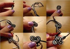 how to make jewelry, beading pattern, Jewelry making classes, jewelry ideas to… Tutorial Soutache, Soutache Pattern, Jewelry Making Classes, Jewelry Making Tutorials, Make Your Own Jewelry, I Love Jewelry, Beaded Jewelry Patterns, Beading Patterns, Shibori