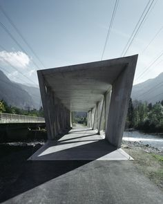 Alfenz Bridge, Montafon, Austria  by Marte.Marte Architects