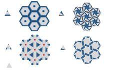 shibori itajime - triangle folds pattern demonstrations