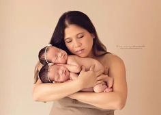 #Beautiful new born #twins with #mommy
