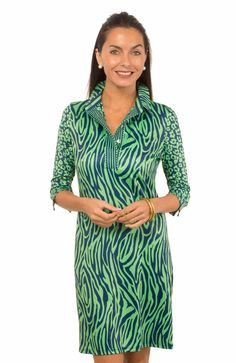 Everywhere Jersey Dress -- Zany Zebra