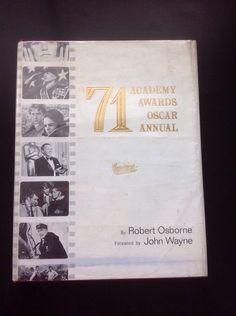 71 Academy Awards Oscar Annual Robert Osborne John Wayne Book 1971 Hardcover