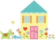 Doll House and Dog Wall Mural Set for kids rooms http://www.muralsforkids.com/products/Doll-House-and-Dog-Wall-Mural-Set.html