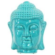 World Menagerie Buddha Head with Rounded Ushnisha Bust