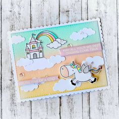 Birdie Brown Magical Unicorns stamp set and Die-namics  - Raluca Vezeteu…