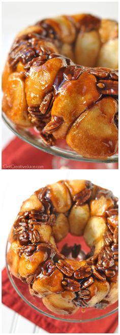 5 Ingredient Easy Butterscotch Pecan Monkey Bread Recipe
