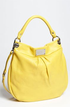 MARC BY MARC JACOBS 'Classic Q - Hillier' Hobo in this bright Rainslicker color! Great everyday summer bag