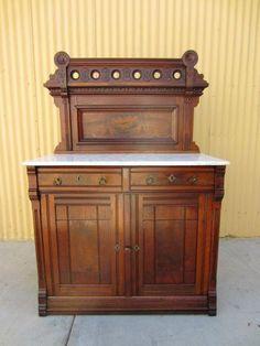 American Antique Washstand Dresser Dry Sink Cabinet Cabinets Hoosier