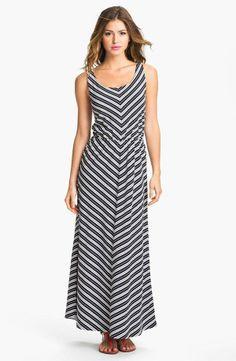 Nordstrom  Olive & Oak Chevron Stripe Maxi Dress