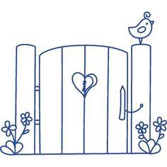 Through The Garden Gate Clipartopolis Digitizers Heaven