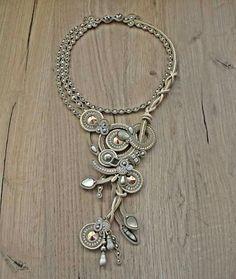 Soutache Necklace, Tassel Earrings, Pendant Necklace, Statement Jewelry, Boho Jewelry, Jewelry Art, Jewellery, Bead Embroidery Patterns, Beaded Embroidery