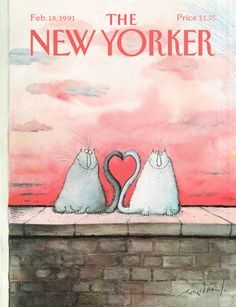 The New Yorker - A cover by Ronald Searle, February 1991. For more...