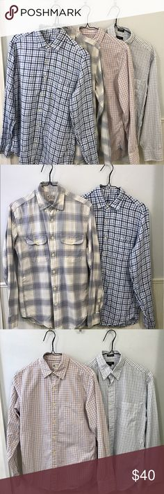J Crew Botton Up Dress Shirts Four J Crew dress shirts in used excellent condition. All of them are size Small. J. Crew Shirts Dress Shirts