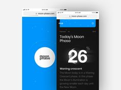 Moon Phase website by Maciej Karolczak
