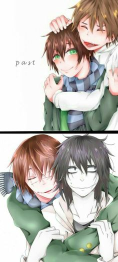 Jeff the Killer, Homicidal Liu, brothers, past, text, cute, funny, young…