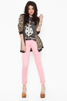 Zip Low Jeans  http://www.nastygal.com/features%5Fcolor%5Fcoded/zip%2Dlow%2Djeans%2Dpink?utm_source=pinterest_medium=smm_campaign=pinterest_nastygal