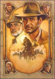 Movie posters used to be so cool! Love the old Indiana Jones poster art.