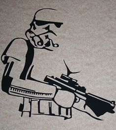 Star Wars Papercut from My Idle Hands, Folksy