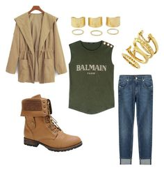 """""""Autumn is here!"""" by neverfadingbeauty ❤ liked on Polyvore featuring moda, Balmain, 7 For All Mankind, Nature Breeze y Vince Camuto"""