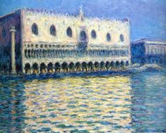The Palazzo Ducale, 1908, Claude Monet Medium: oil on canvas