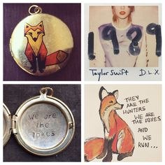 "Taylor Swift ""We Are the Foxes"" Lyric Locket by HopeStampede on Etsy https://www.etsy.com/listing/209150584/taylor-swift-we-are-the-foxes-lyric"