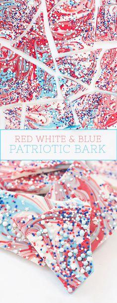 Easy Patriotic Bark | Sprinkles for Breakfast