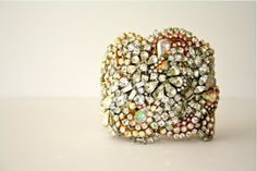 Doloris Petunia One of a Kind Custom Cuff - Made to Order Example on Etsy, $1,000.00