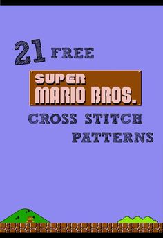 And She Games...: 21 FREE Super Mario Cross Stitch Patterns