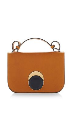 Tan Vitello Leather Shoulder Bag by MARNI for Preorder on Moda Operandi