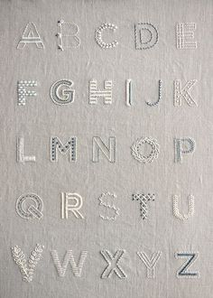 Learn to Embroider an Alphabet Sampler... - Learn to Embroider an Alphabet Sampler - http://progres-shop.com/learn-to-embroider-an-alphabet-sampler/