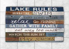 Lake Rules Accent Rug, Lake Rules by Marla Rae
