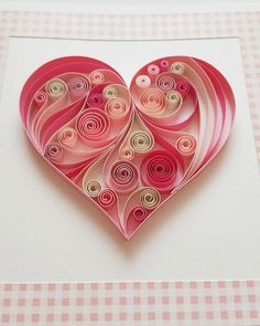 Quilled card with pink heart. - Size of card: 145x145mm. - The card is packaged carefully to ensure a safe delivery. -Each card is with cardbox with ribbon. Each card is made individually so the card you receive may differ very slightly from the photograph. I ship the quilling cards with tracking number for your protection and a guarantee delivery. Please let me know through ETSY Conversation if you have any questions! Thank you