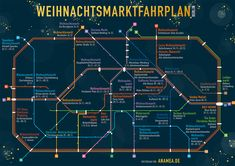 Submission – Berlin Christmas Markets S- and U-Bahn Map Now that Thanksgiving is done and dusted, let's move on to Christmas! Submitted by Metrolley, here's a lovely little map produced by anamea. Slow Travel, Travel Tours, Travel Info, Berlin Christmas Market, Best Christmas Markets, Berlin Band, Berlin Ick Liebe Dir, Bahn Berlin, Berlin Berlin
