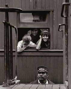 "Rodrigo Moya, The Brakeman, 1966, from the series ""The Little Train,"" Old México–Cuautla line."