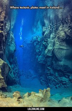 Where Tectonic Plates Meet In Iceland...#funny #lol #lolzonline