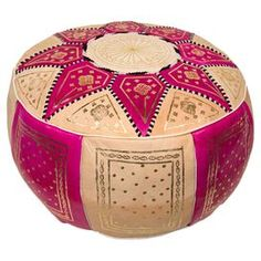 Marrakech Pouf in Fuchsia