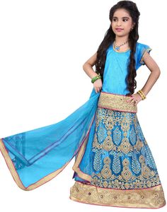 Firozi Blue Wedding Wear Girl's Lehenga Choli  https://www.ethanica.com/products/firozi-blue-wedding-wear-girls-lehenga-choli